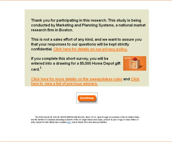 Home Depot Customer Opinion Survey Surveys Marketing System Customer Survey
