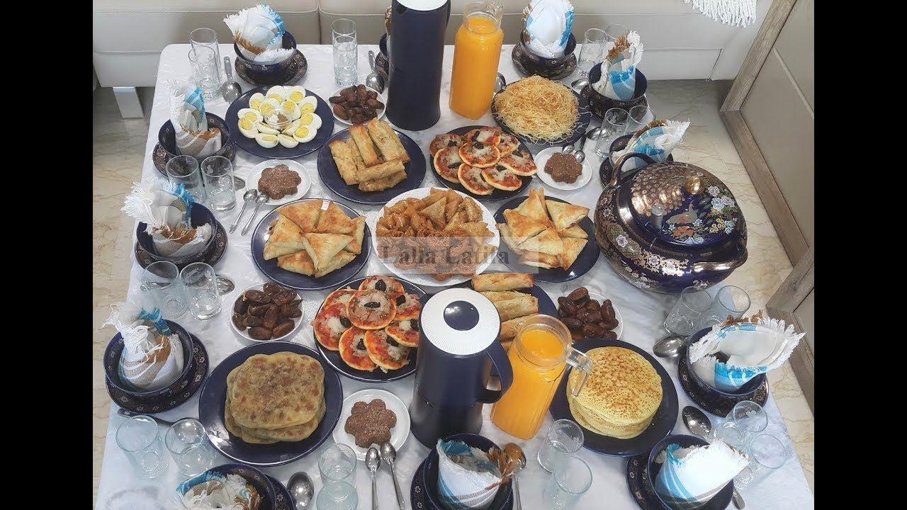 Recette Ramadan 2018مائدة فطور الضيوف رمضان Table Settings