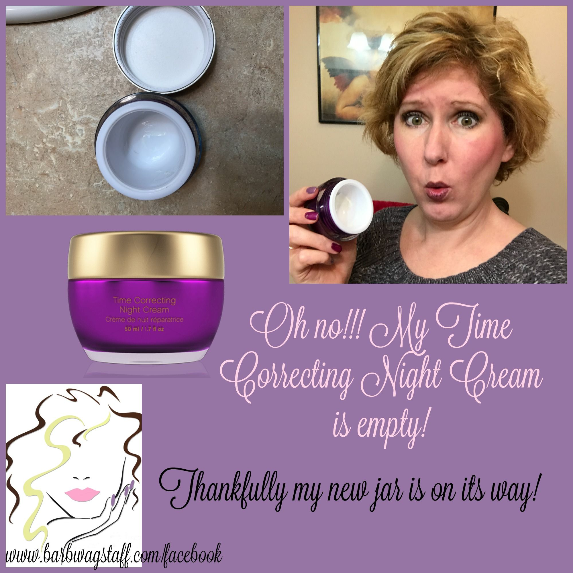Younique night cream is a luxurious, heavenly cream for your face.  When you use this cream you can be confident that your face is getting the added moisture that it needs each night.  For more product reviews and information join me on Facebook at www.barbwagstaff.com/VIPs