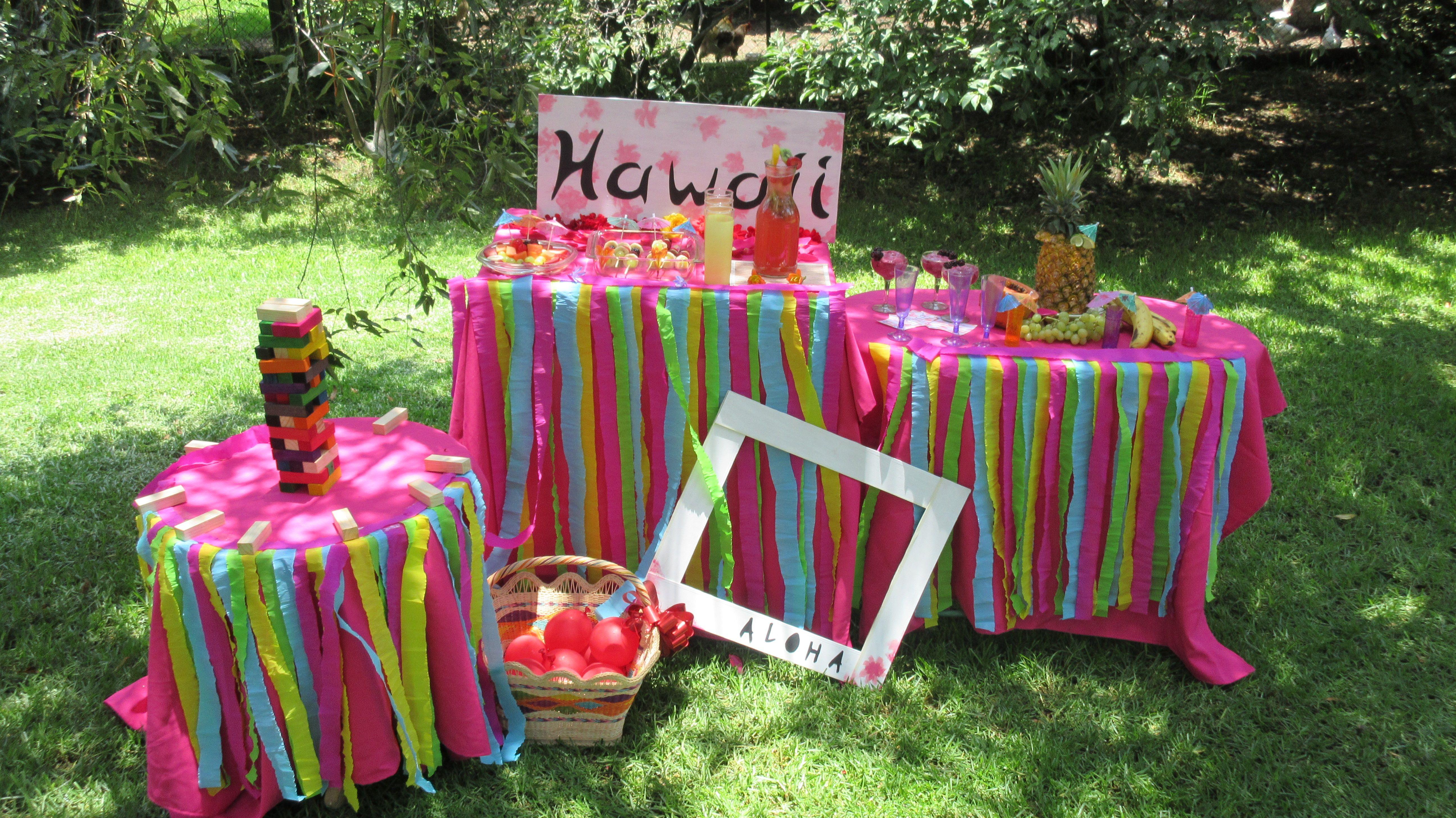 Haz una fiesta hawaiana con snacks y smoothies muy ricos y fáciles. Hawaian Party  Easy and delicious