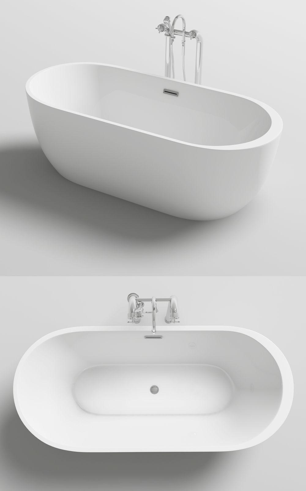 Wanna Wolnostojaca Mexen Livia Akrylowa Biala 170x80 Cm Z Korkiem Klik Klak Syfon In 2020 Bathtub Bathroom Sink