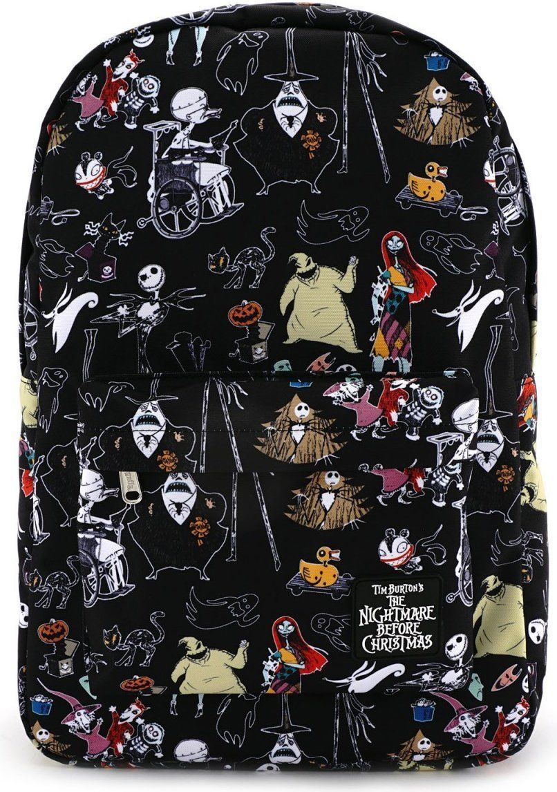 loungefly disney nightmare before christmas characters backpack - Nightmare Before Christmas Backpack
