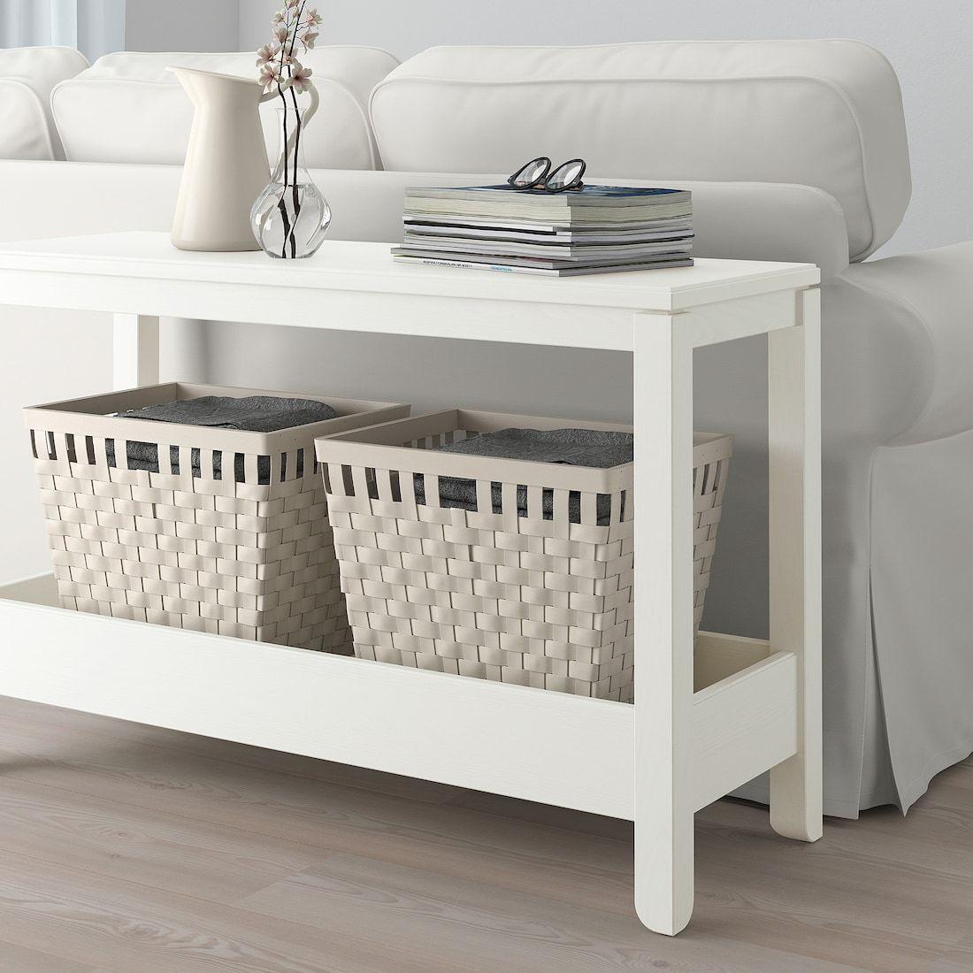 Ikea Havsta White Console Table In 2020 White Console Table Console Table Ikea