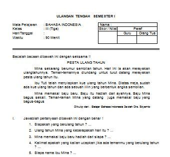 Contoh Soal Dan Jawaban Bahasa Indonesia Kelas 7 Semester 2