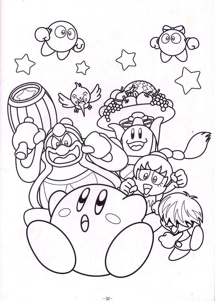 Kirby Star Allies Coloring Pages  Monster coloring pages, Mario