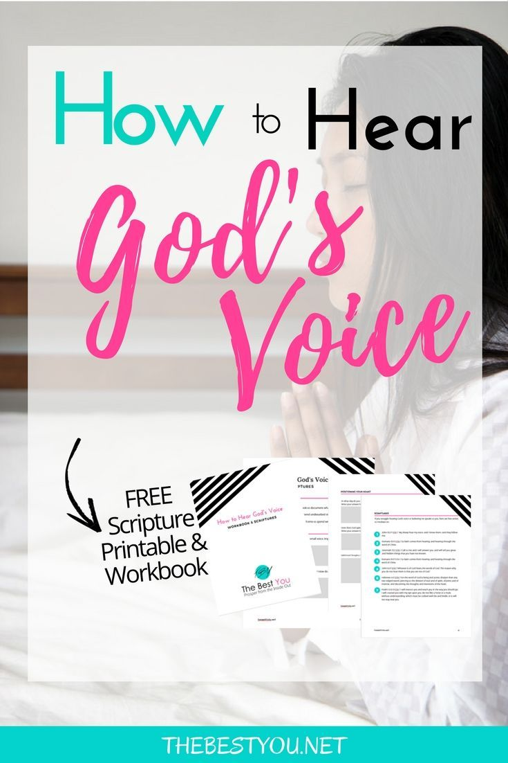 Workbooks prayer workbook : How to Hear God's Voice | Free, Bible and Christian