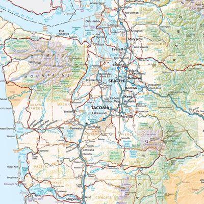 Washington Road Recreation Atlas Benchmark Maps Washington