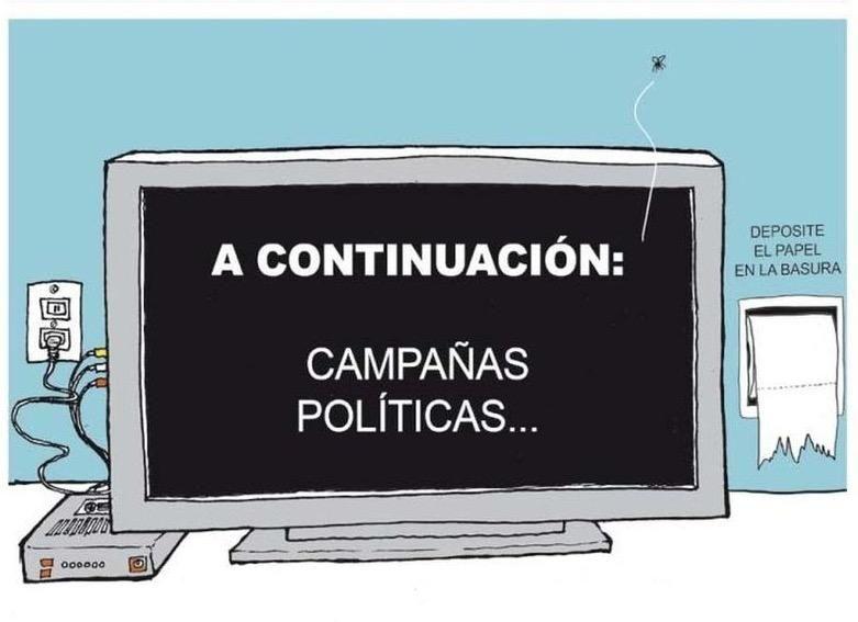 """""""Incontinencia electoral"""", por @monerorape"""
