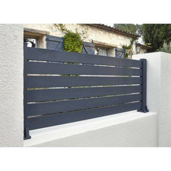 Lame De Cloture Aluminium Ajouree Klos Up Gris Zinc H 9 X L 145 Cm Cloture Aluminium Cloture Pvc Cloture Maison