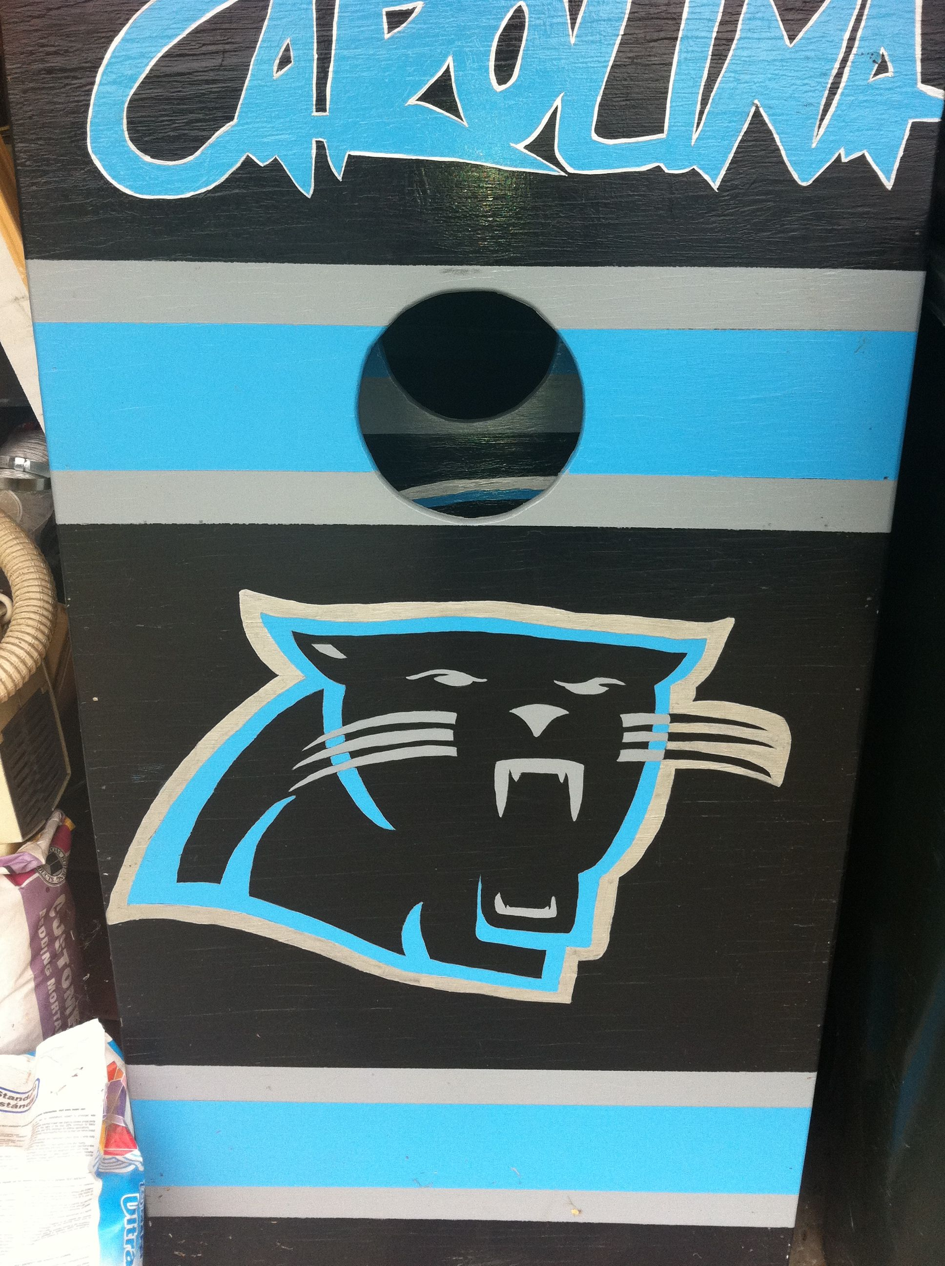 Carolina Panthers Cornhole Boards Crafts Pinterest Panthers