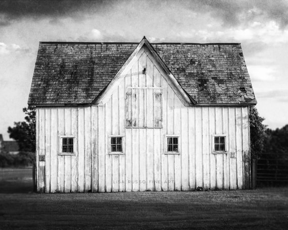 Modern Black And White Farmhouse Wall Art Decor Photography Print Rustic Barn Landscape Photo Canvas Wall Art Plaque Or Wood Wall Art Farmhouse Wall Art Barn Photos White Barn