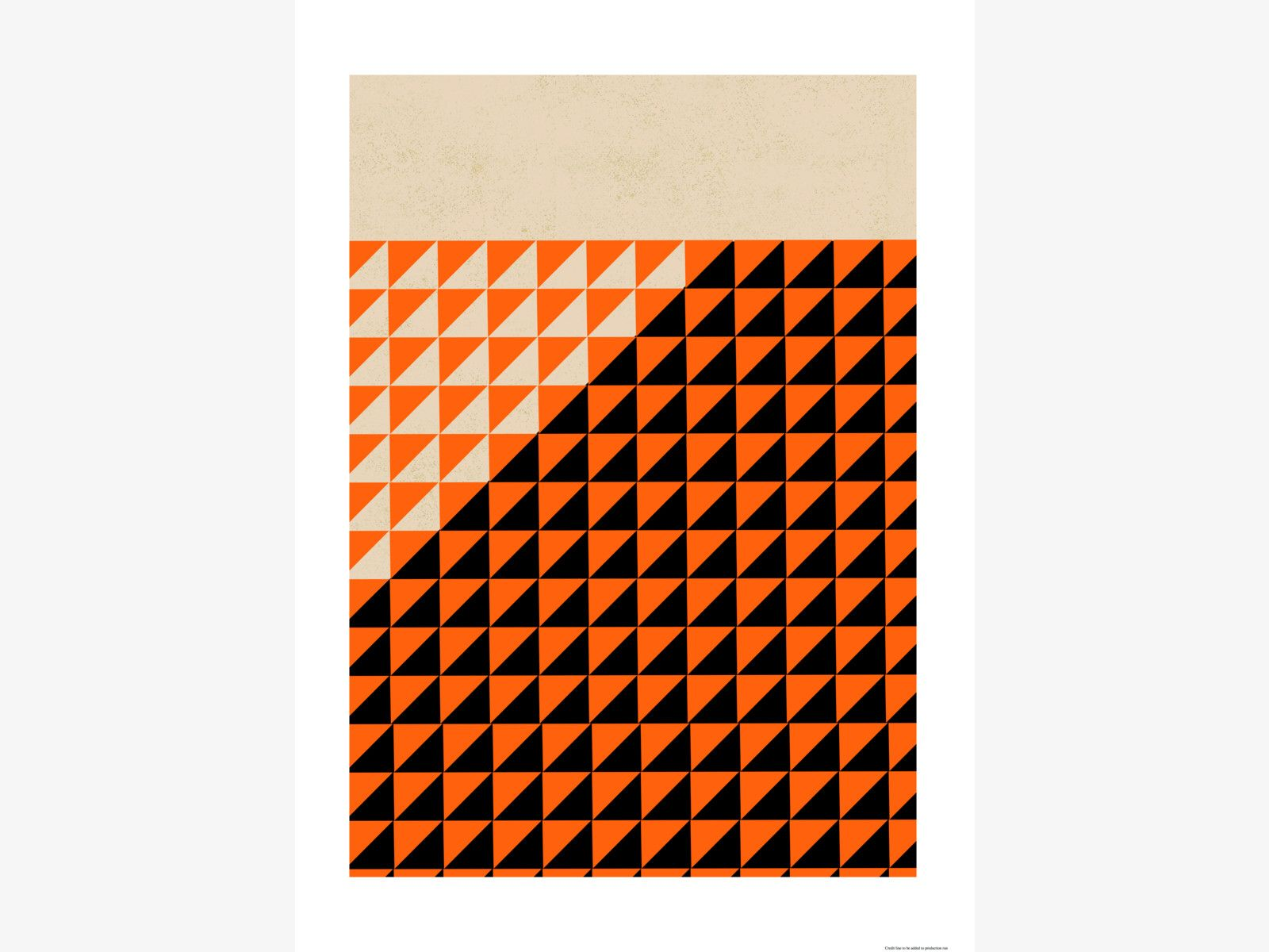 TRI GRAPHIC MULTI-COLOUR Paper 50 x 70cm print by Rocket 68 - HabitatUK