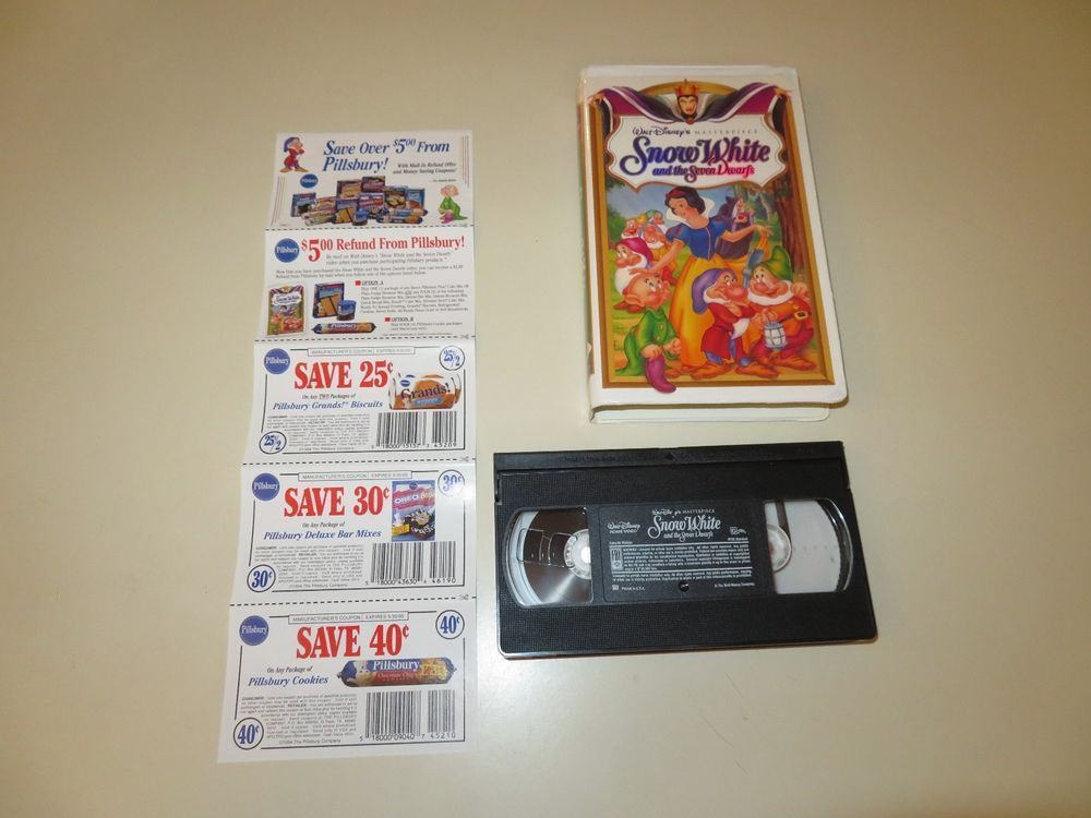 Vintage VHS Snow White and the Seven Dwarfs Walt Disney Masterpiece ...