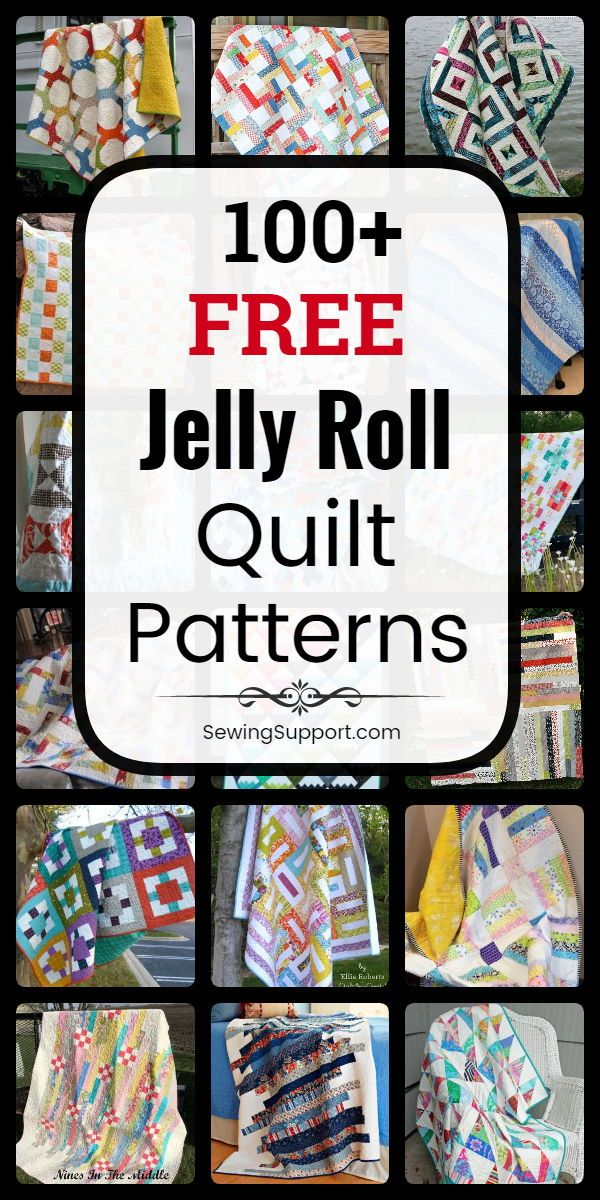 100+ Free Jelly Roll Quilt Patterns