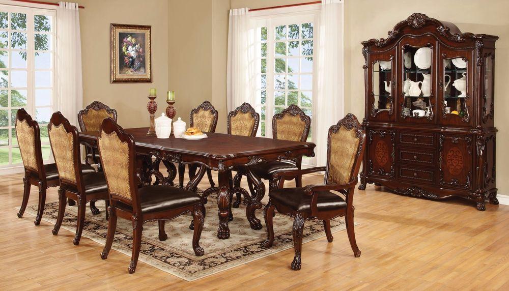 Formal Pedestal Dining Table Amp Chairs Room Furniture Set Ebay Farmhouse Windsor