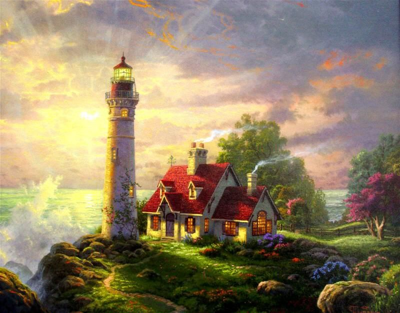 Details about Thomas Kinkade The Little Mermaid 24x36 Artist