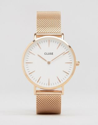 Cluse La Boheme Mesh Rose Gold Watch CL18112 at www.asos.com   watches   watchmk  michael kors  barbados f73cf31b6206