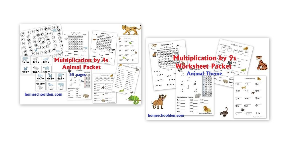 Multiplication By 4s And 9s Worksheets Kids Math Multiplicaton