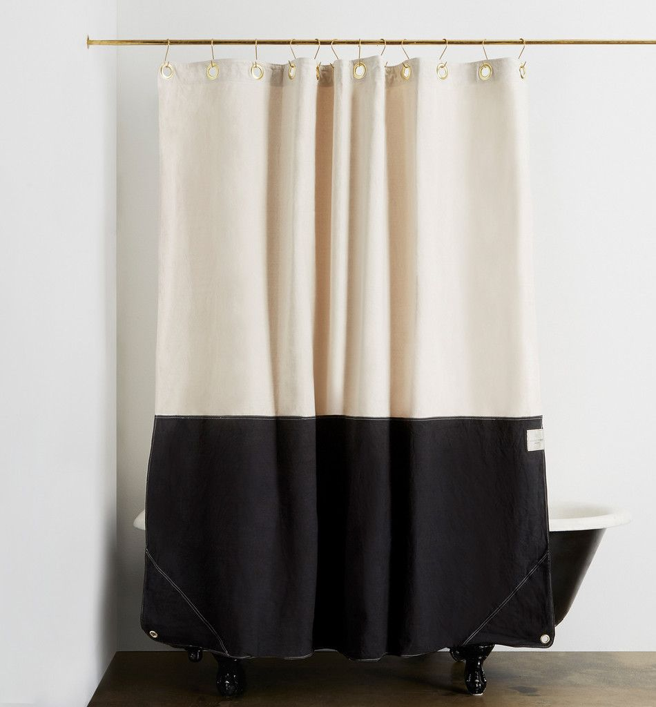 Orient Night Ride Color Blocked Shower Curtain Curtains