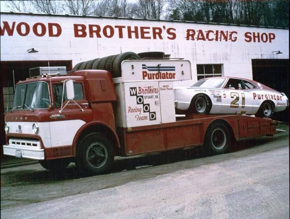 Early Wood Brothers Shop Oldschoolnascar Race Cars Old Race