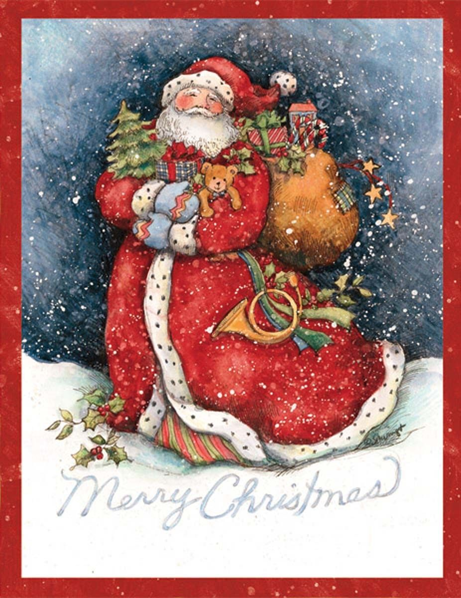 Merry santa christmas cards 1004687 lang kerstkaart lang merry santa boxed christmas cards 18 cards with 19 envelopes lang boxed christmas cards are consistently ranked for design kristyandbryce Choice Image