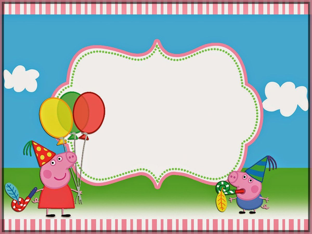 Peppa Pig Invitation Template Free Free Invitation Templates Peppa Pig Invitations Pig Invitation Pig Birthday Invitations