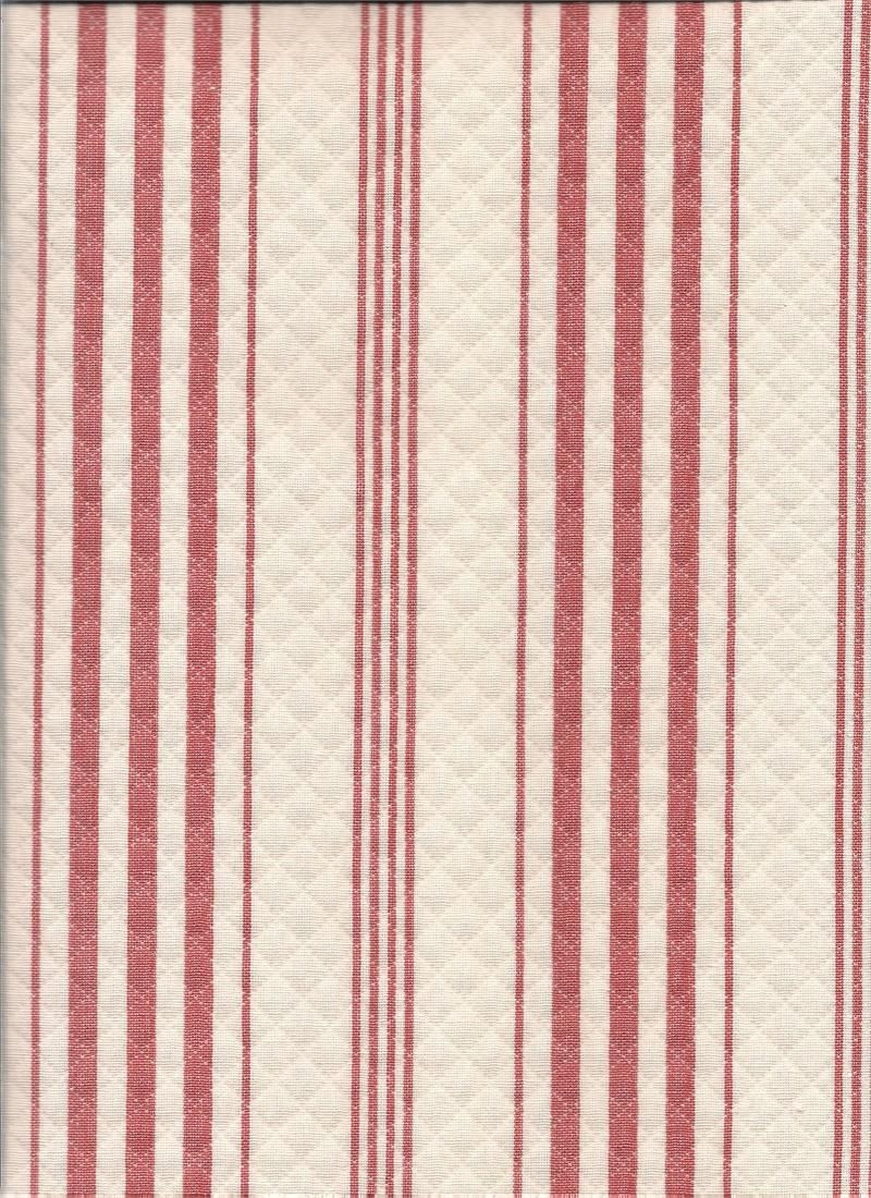 red stripe coral color fabric for top treatment, curtains, tiers