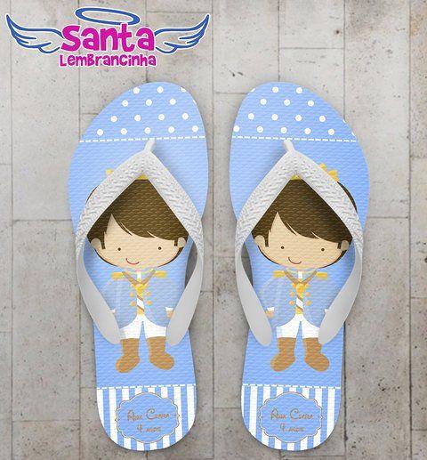 Chinelo Festa Infantil Principe Personalizado