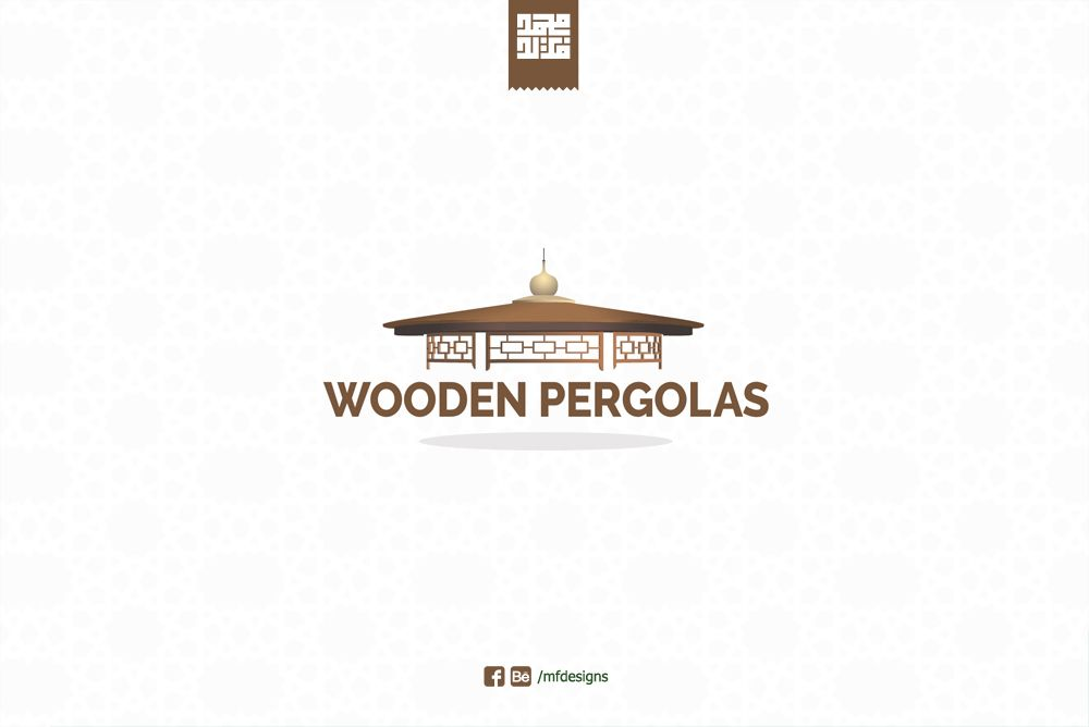 Wooden Pergolas Logo logo logodesign branding