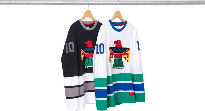 Supreme Hockey Jersey Streetwear Long Sleeve Tee Shirts Mens Inspiration Outerwear
