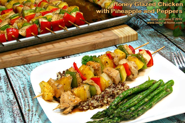 Honey Glazed Chicken with Pineapple and Peppers, a Simple