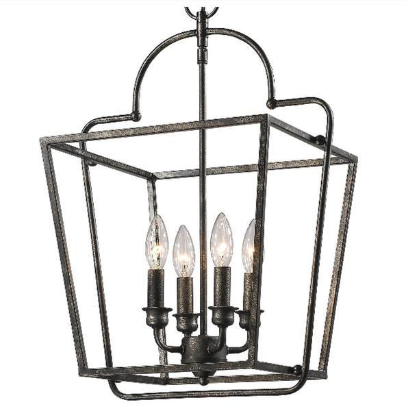 Elegant Open Cage Lantern Millennium Lighting Glass Star Light Kitchen Lighting Design