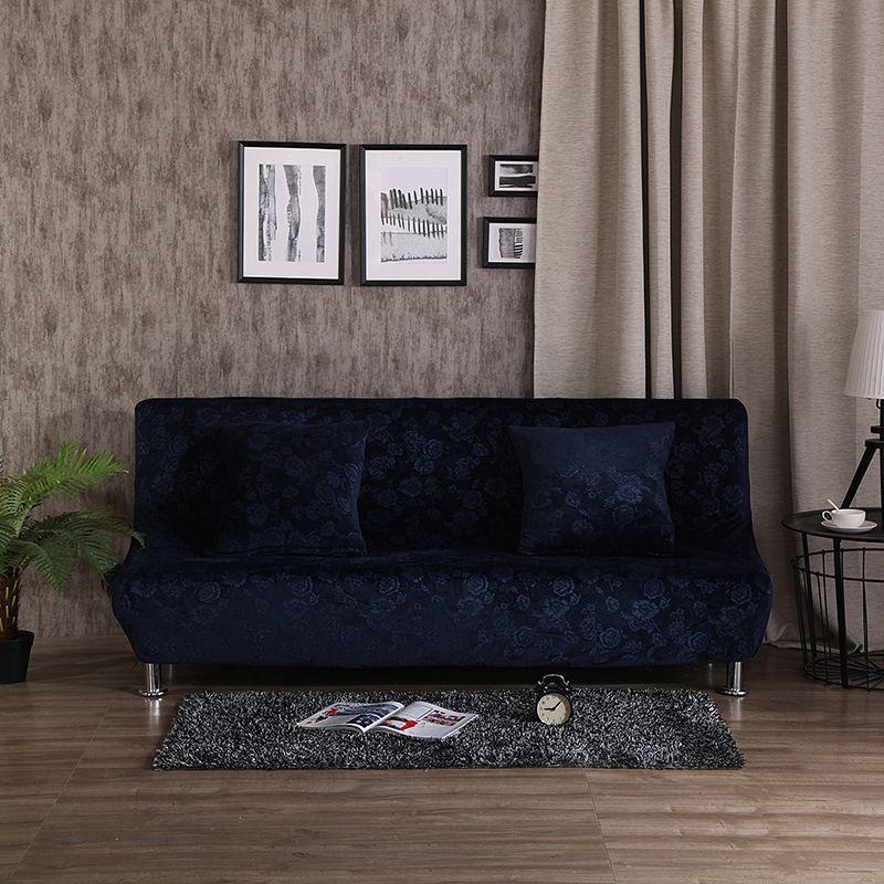dark blue embossing furniture covers for home polyester armless rh pinterest co uk