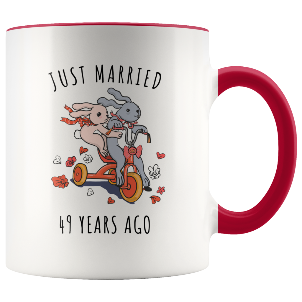 Just Married 49 Years Ago 49th Wedding Anniversary Gift
