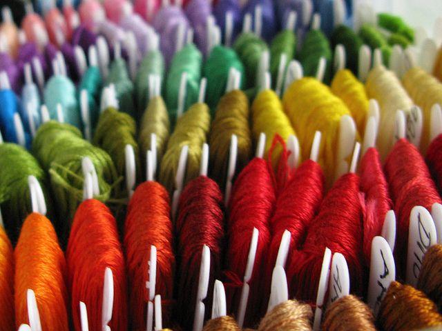 organized embroidery floss by Helena / Funny Bunny via flickr