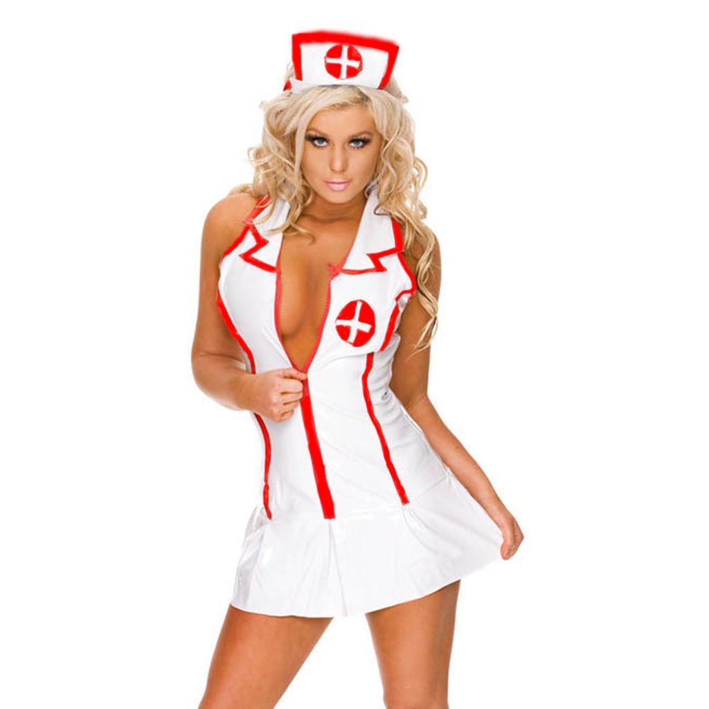 e8df43946a2 Erotic Nurse Cosplay Lingerie Costume for Halloween $19.99 Use coupon SPL20  for additional 20% OFF.