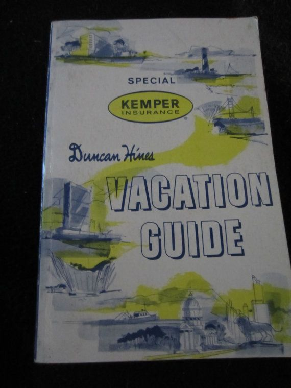 1961 Duncan Hines Vacation Guidevintage Travel By Kookykitsch
