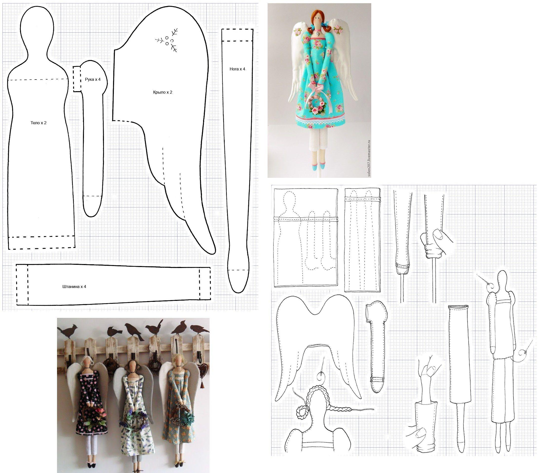 Engel Schnittmuster, angel pattern | cajas para regalos navideñas ...