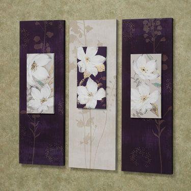 garden dance floral canvas wall art set