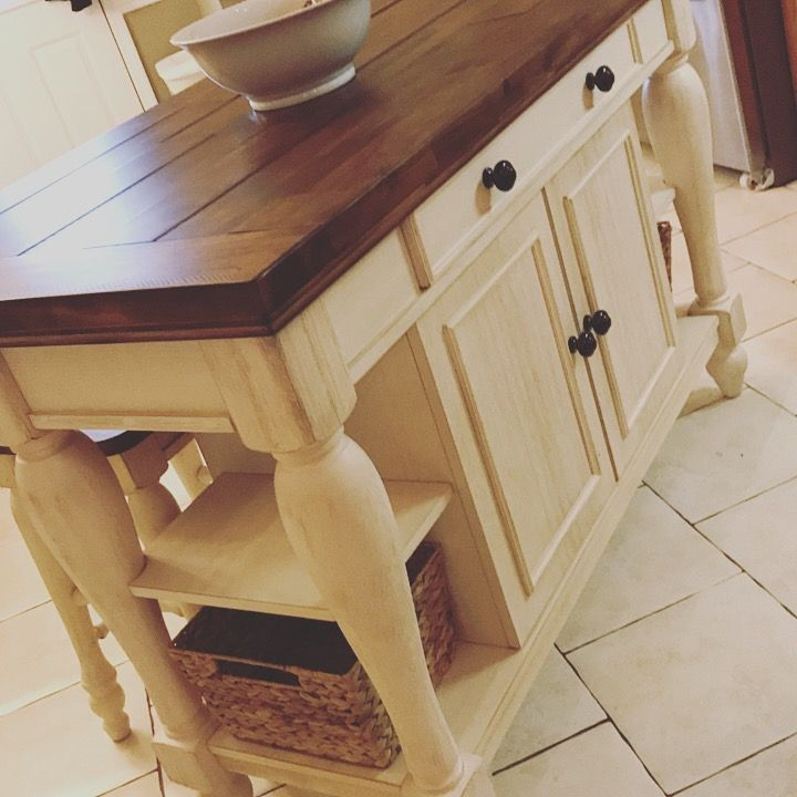My New Marsilona Kitchen Island From Ashley Furniture