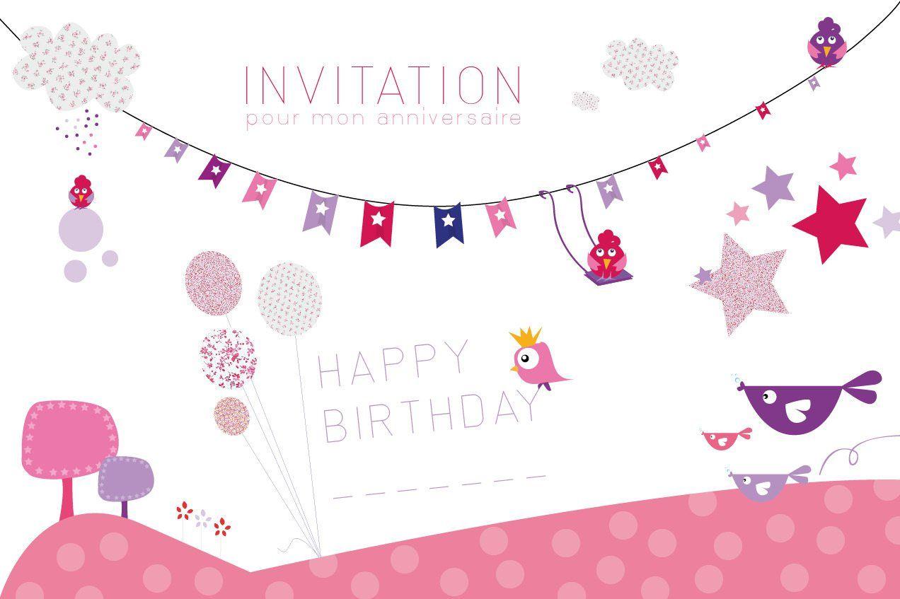 Invitations Anniversaire A Imprimer