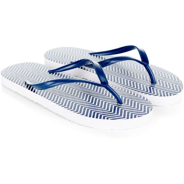 87748b16b67234 Accessorize Chevron Stripe Flip Flops ( 12) ❤ liked on Polyvore featuring  shoes