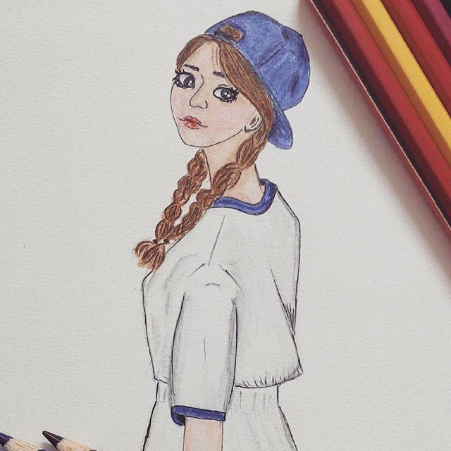 Hello 안녕 Sketch Sketchbook Art Illustration Anime
