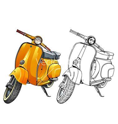 Old vespa vector | vector graphics | Pinterest | Vespa