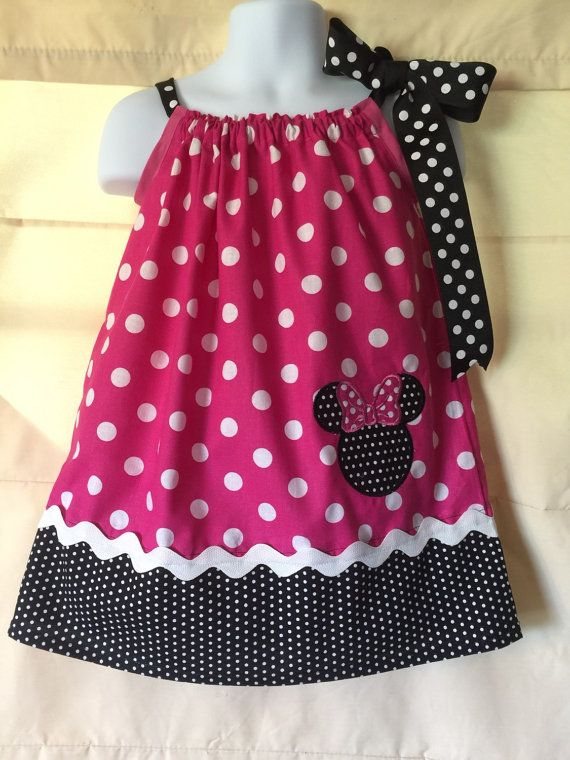 Pink Minnie Mouse pillowcase Dress by CuteCoutureByShelley on Etsy & Pink Minnie Mouse pillowcase Dress by CuteCoutureByShelley on Etsy ... pillowsntoast.com