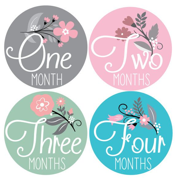 BABY Milestone 1-12 month Growth Photo Cards-Handmade--PINK,GREEN,FLOWER