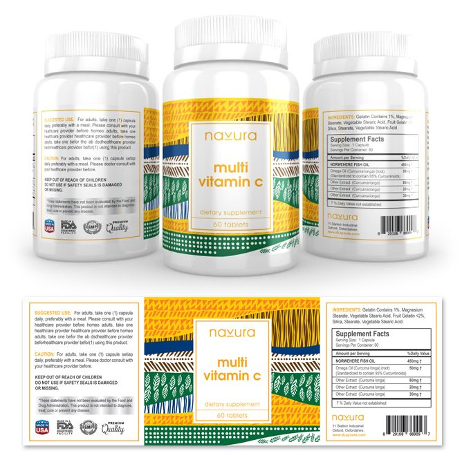 Vitamin C Supplement Label Template HttpWwwDlayoutsCom