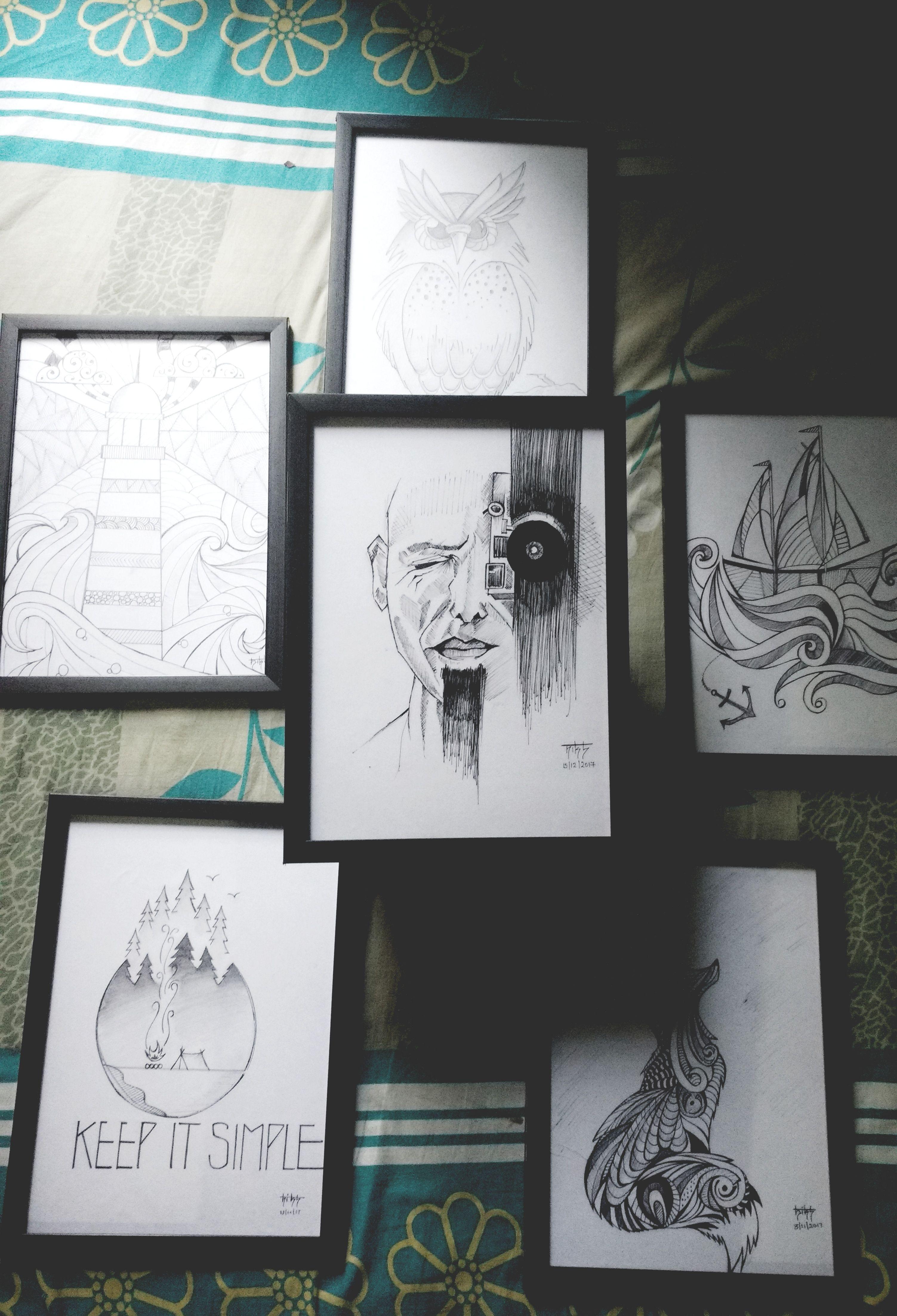 Frames , pencil sketch   Gallery wall, Frame, Pencil sketch