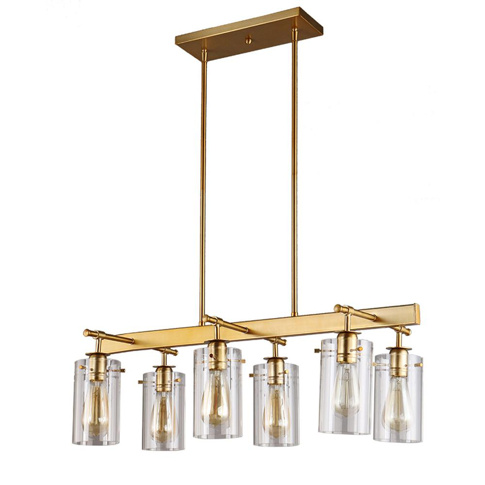 DSI Brooklyn Collection 5 Light Antique Brass Chandelier