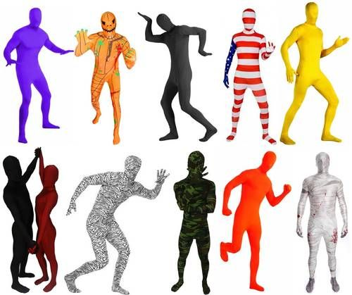 Lycra Spandex Zentai Morph Full Body Hood Suit Costume Party ...